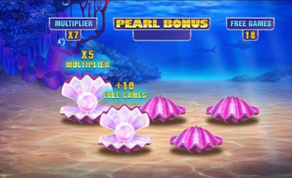 pearl bonus στο Φρουτάκι Great Blue Jackpot της Playtech