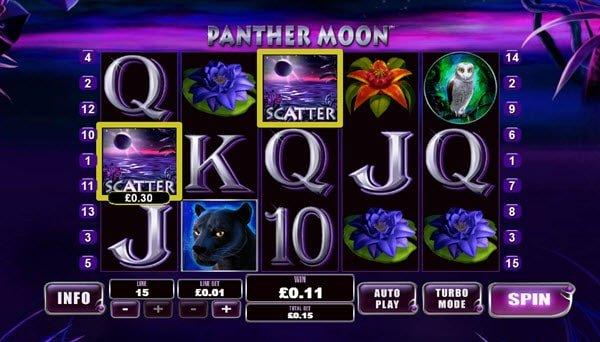 σύμβολο wild στο Φρουτάκι Panther Moon Playtech
