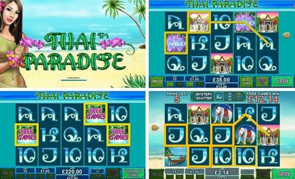 λειτουργίες στο Thai paradise - φρουτάκια της Playtech