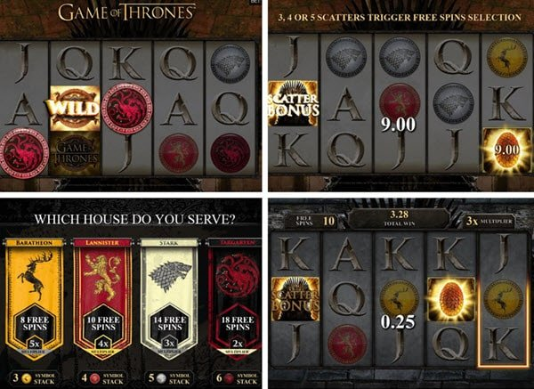 δωρεαν περιστροφες στο φρουτακι Game of Thrones -φρουτακια microgaming