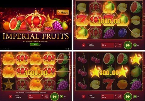 ρουτάκι Imperial Fruits: 5 Lines wild και scatter