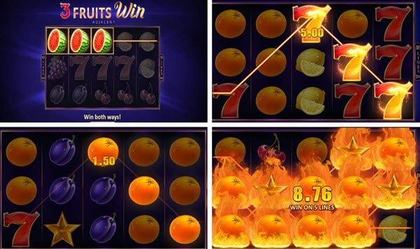 συμβολα στο φρουτακι 3 Fruits Win: 10 Lines φρουτάκια της Playson
