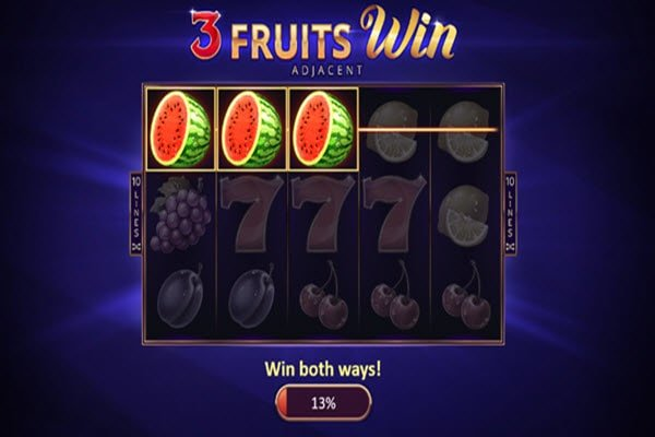 3 Fruits Win: 10 Lines Κλασικά φρουτάκια της Playson