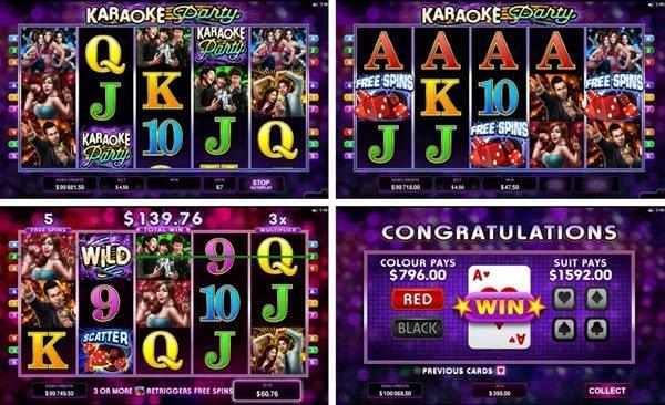 δωρεαν περιστροφές και λειτουργία gamble στο Karaoke Party της Microgaming