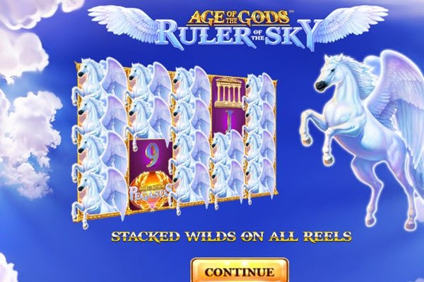 Age of the gods ruler of the sky της Playtech