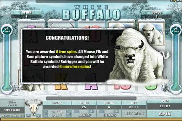 White Buffalo slot της Microgaming