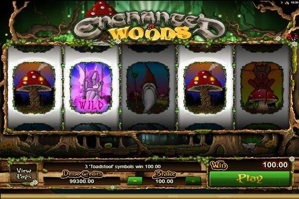 συμβολο wild στο φρουτάκι Enchanted Woods