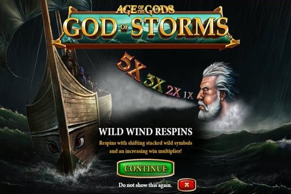 φρουτάκι Age of the Gods God of Storms της Playtech