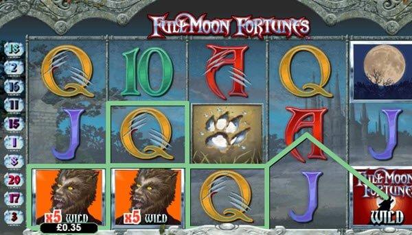 φρουτάκι Full moon fortunes της Playtech και Full moon bonus