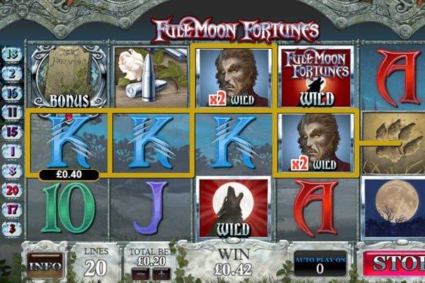 σύμβολα στο φρουτάκι Full moon fortunes της Playtech