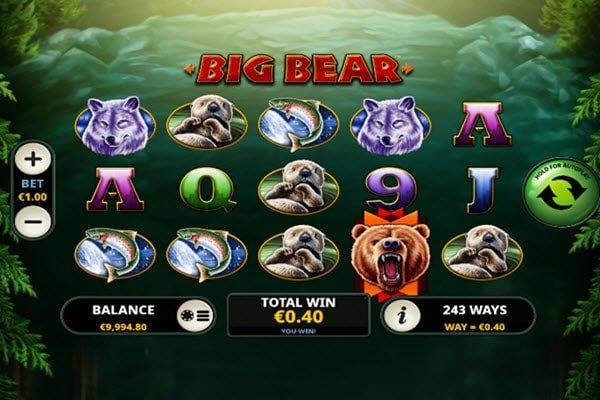 Σύμβολο wild στο φρουτάκι Big bear-φρουτακια playtech