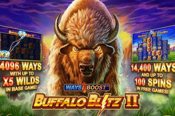 Το Buffalo blitz 2 της Playtech προσφέρει από 4.096 μέχρι και 14.400 τρόπους για κέρδη!