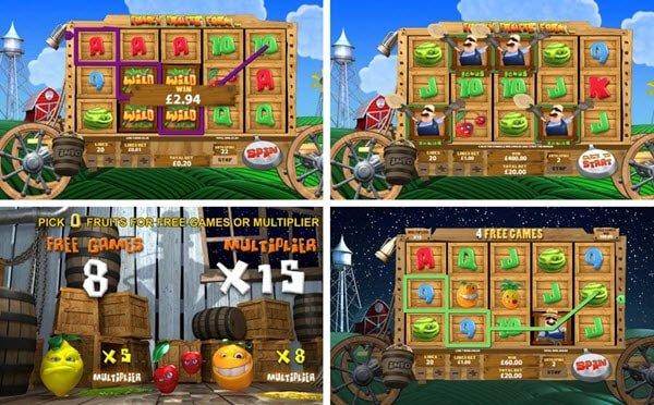 Φρουτάκια της Playtech δωρεάν περιστροφές, πολλαπλασιαστές κέρδους και παιχνίδι μπόνους στο funky fruits farm