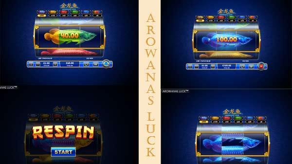 Respins και σύμβολα στο Φρουτάκι Arowanas Luck της Playtech