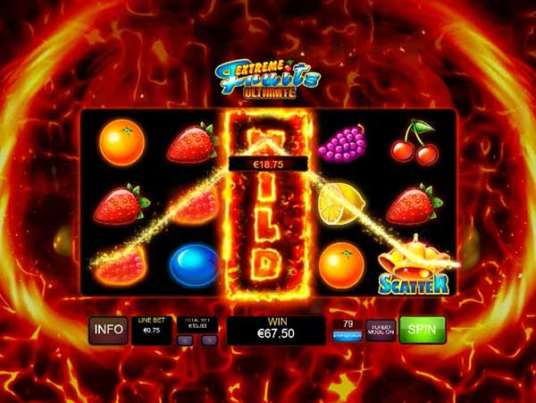 Extreme fruits ultimate της Playtech και σύμβολο wild