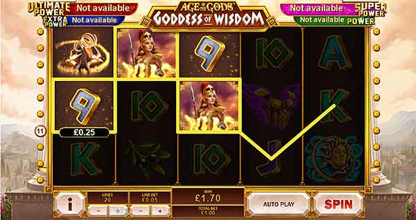 Φρουτάκι Age of the Gods: Goddess of Wisdom της Playtech