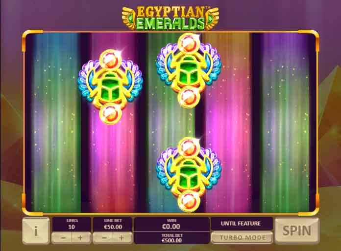 Egyptian Emeralds της Playtech- scarab respins