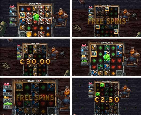 Φρουτάκι dwarf mine και μπόνους λειτουργίες