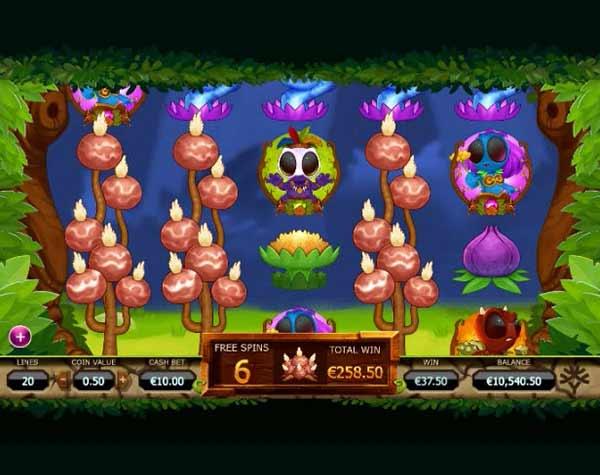 δωεάν περιστροφές και σύμβολο που επεκτείνεται στους τροχούς στο Φρουτάκι Chibeasties της Yggdrasil Gaming